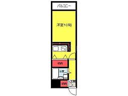 大阪府堺市堺区南三国ヶ丘町4丁の賃貸マンションの間取り