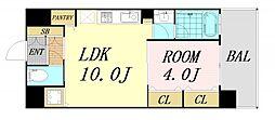 JR東海道・山陽本線 新大阪駅 徒歩7分の賃貸マンション 4階1LDKの間取り