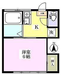 山野井荘[2階]の間取り