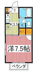 コ−ト芝Miki[1階]の間取り