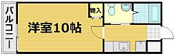 京都府京都市山科区北花山大林町の賃貸マンションの間取り