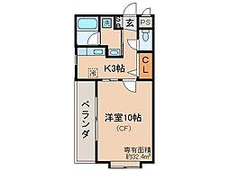 京都府京都市伏見区瀬戸物町の賃貸マンションの間取り