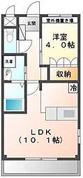 エトワール大和田[106号室]の間取り