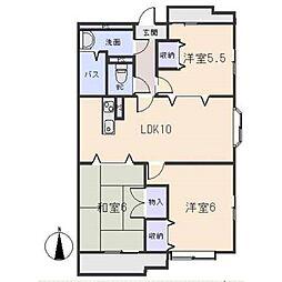 コメルスV[2階]の間取り