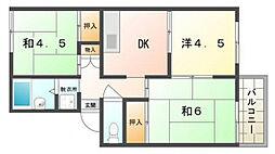 ゼントハウス[2階]の間取り