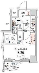 ベルシード横濱ウエスト[603号室]の間取り