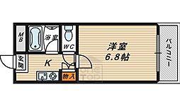 フローラル横堤2階Fの間取り画像