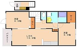 サンヴィレッジ3[2階]の間取り