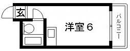 小若江ハイツ[503号室号室]の間取り