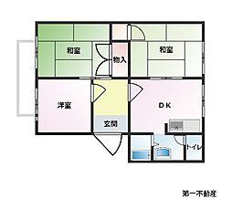 兵庫県西脇市下戸田の賃貸アパートの間取り