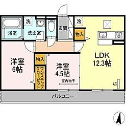 D-room寺塚 伍番館[1階]の間取り