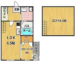福岡県福岡市早良区次郎丸6丁目の賃貸アパートの間取り