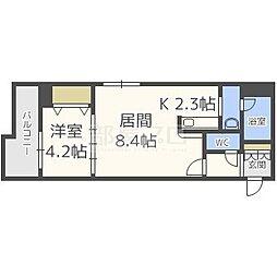 北海道札幌市東区北十四条東1丁目の賃貸マンションの間取り