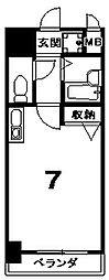 プレサンス京都清水[505号室]の間取り