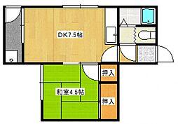 第一ふじ荘[101号室号室]の間取り
