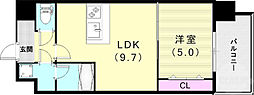 スプランディッド王子公園 5階1LDKの間取り