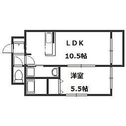 CALM・LIV[6階]の間取り
