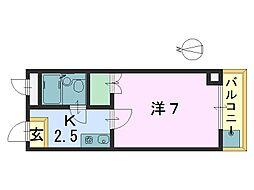 法隆寺駅前ビル[301号室]の間取り