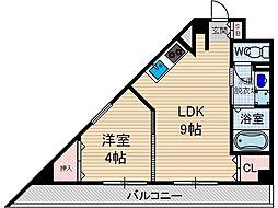 ソレイユ茨木[3階]の間取り