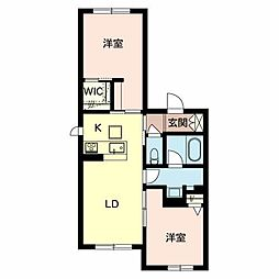 Osaka Metro谷町線 守口駅 徒歩4分の賃貸マンション 2階2LDKの間取り