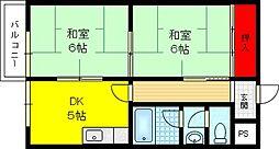 富尾マンションII[2階]の間取り