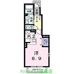 Villa 鶴島B[101号室]の間取り