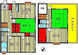 [一戸建] 千葉県柏市しいの木台2丁目 の賃貸【千葉県 / 柏市】の間取り