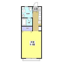 A HOUSE[3B号室]の間取り