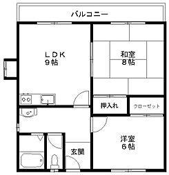 カザーク山木戸[1階]の間取り