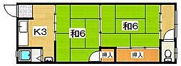 第一南開荘[24号室]の間取り