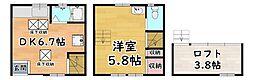 阪急神戸本線 王子公園駅 徒歩4分の賃貸アパート 2階1DKの間取り