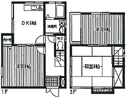 [一戸建] 神奈川県相模原市南区松が枝町 の賃貸【/】の間取り