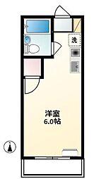 第2富士見ハイツ[2階]の間取り