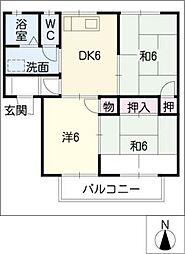 サニーコート天道[2階]の間取り