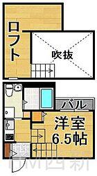 福岡県福岡市早良区田隈2丁目の賃貸アパートの間取り