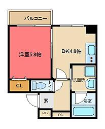 ブリエ東大阪[6階]の間取り