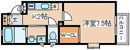 兵庫県神戸市長田区本庄町2丁目の賃貸アパートの間取り
