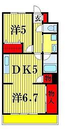 神谷レジデンス[2階]の間取り