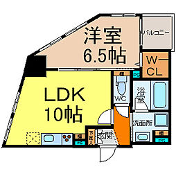 愛知県名古屋市東区東桜2丁目の賃貸マンションの間取り
