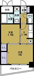 シャトー弁天弐番館[10階]の間取り