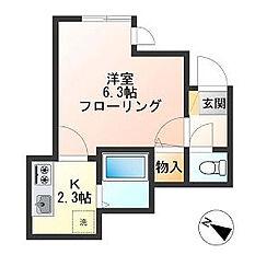 東京都世田谷区船橋2丁目の賃貸アパートの間取り