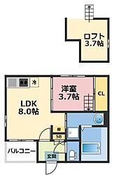 (仮称)ハーモニーテラス東大阪市花園東町一丁目A棟[202号室号室]の間取り