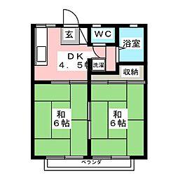 パナハイツ相澤[2階]の間取り