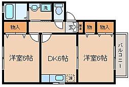 兵庫県神戸市兵庫区湊川町10丁目の賃貸アパートの間取り