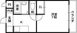 ジャルディーノ壱番館 永和3 俊徳道9分[1階]の間取り