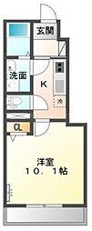 香川県高松市香南町横井の賃貸アパートの間取り