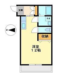 シャンドフルール[3階]の間取り