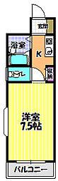 ロアール尾崎[1階]の間取り