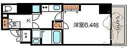 レジュールアッシュ梅田アクシア[8階]の間取り