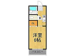 エスポワール岡田[1階]の間取り
